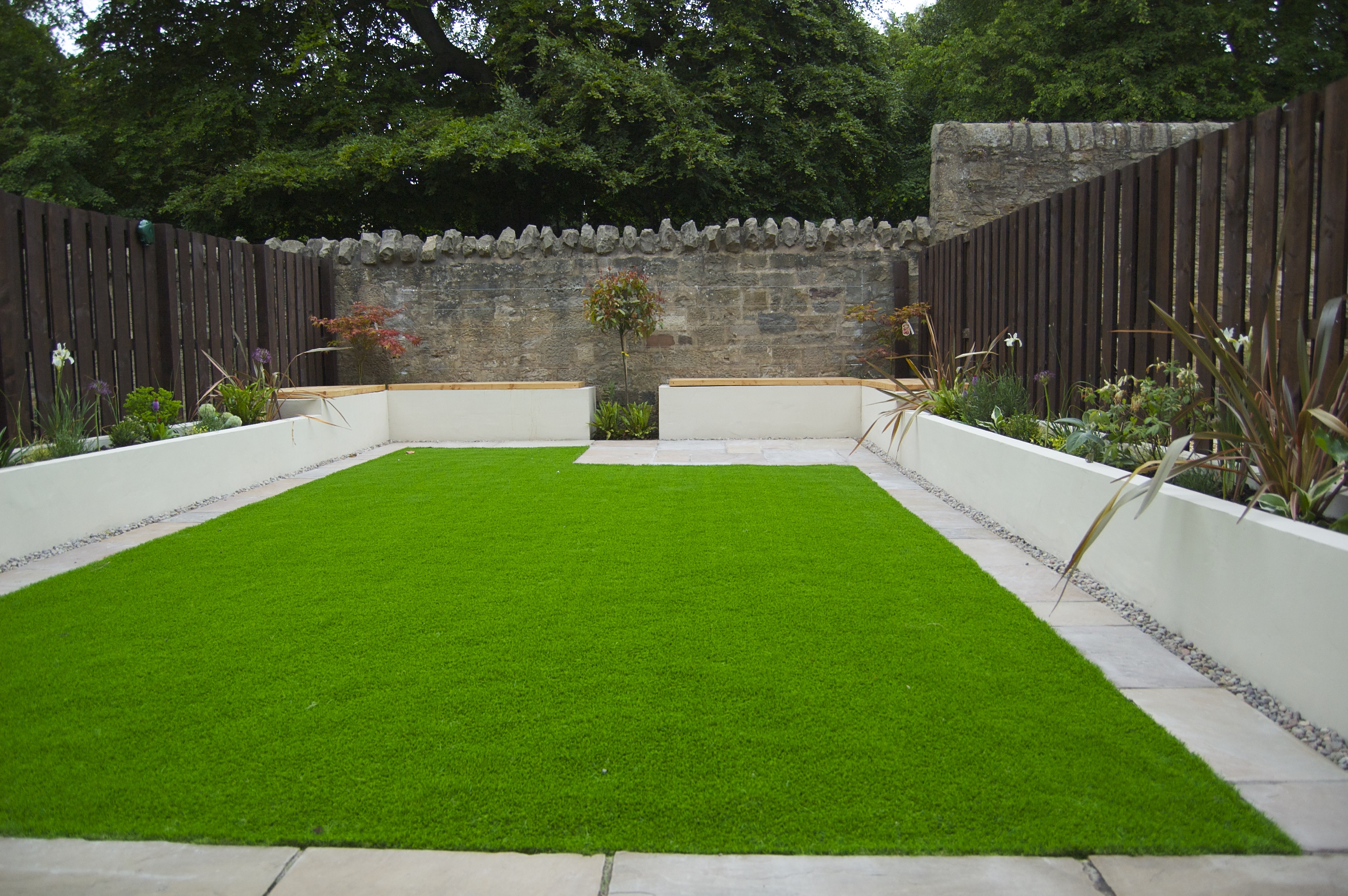 Artifcial lawn garden design project paul church gardens - Garden design using grasses ...