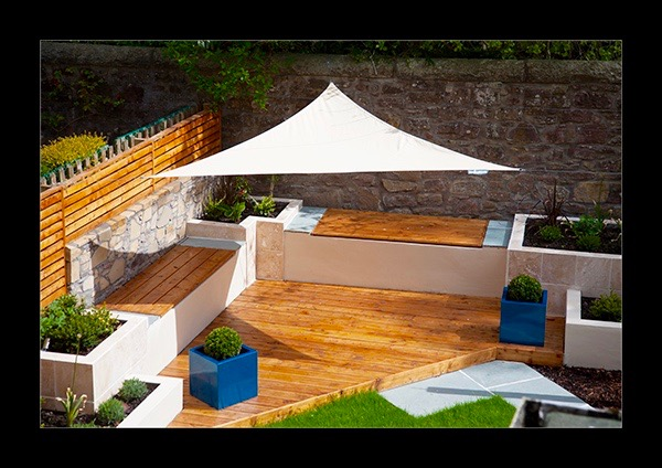 Modern decking and seating