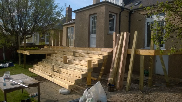 Decking in construction