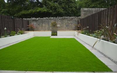 Artifcial lawn – Garden design project
