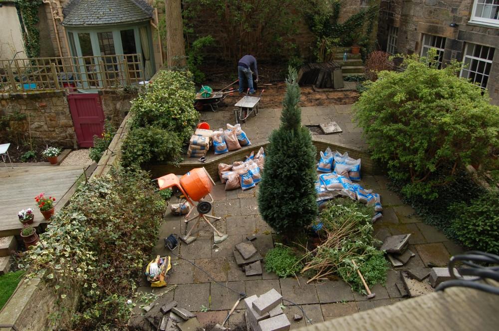 Newtown Edinburgh garden in progress