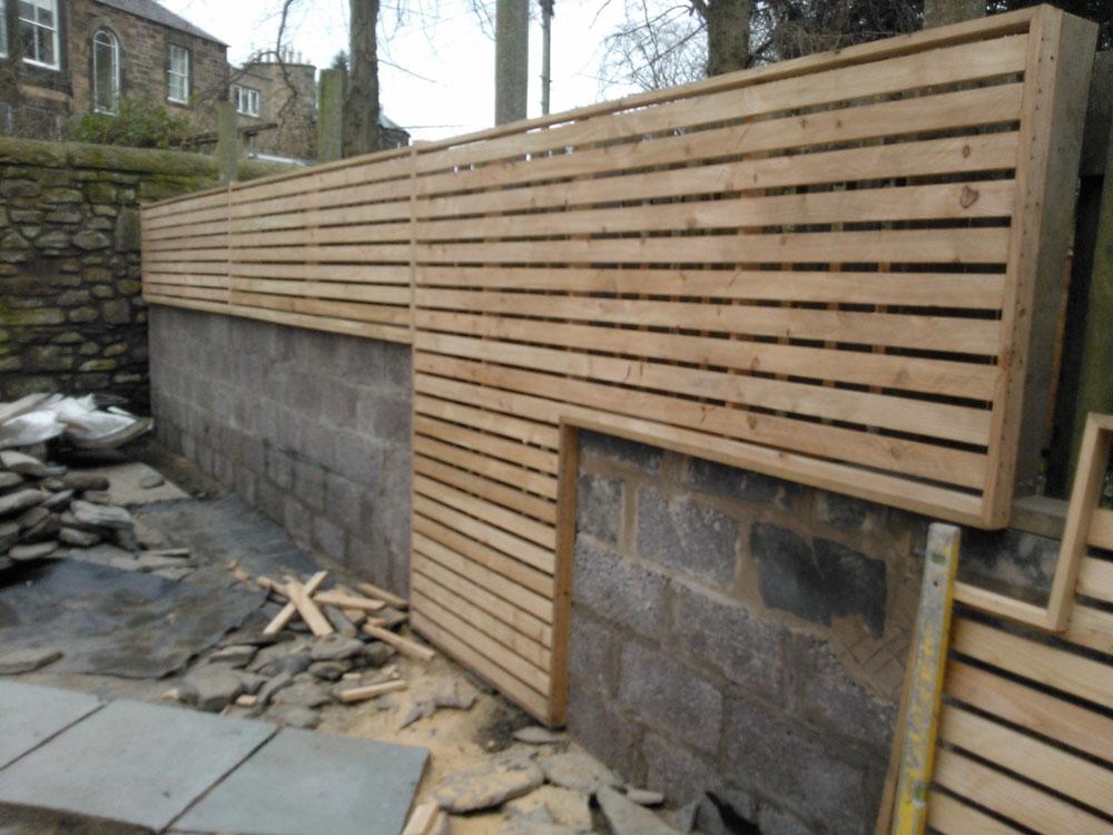 Modern trellis fencing, Edinburgh