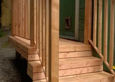 Hand made steps & rails