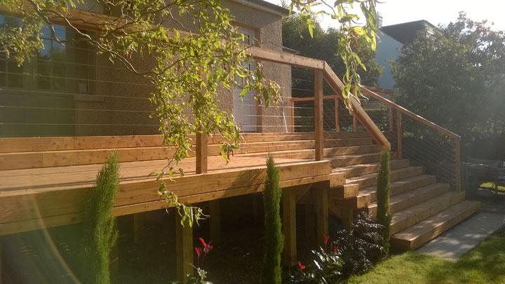 Decking by Paul Church Garden Design