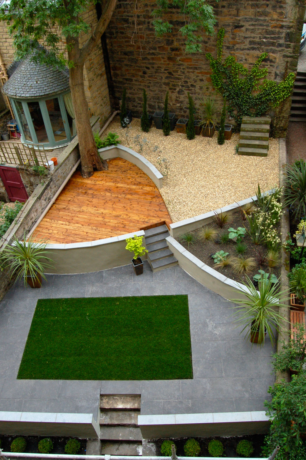 Modern garden design, build and planting