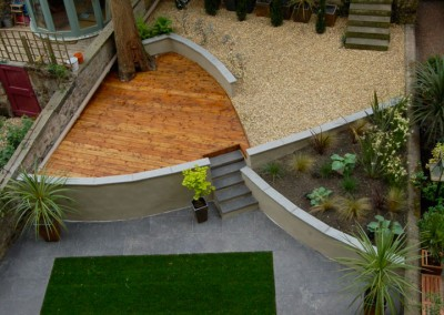 Modern decking design in the heart of newtown Edinburgh